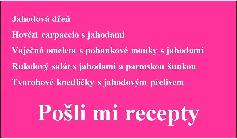 Jahody - recepty